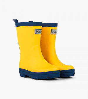 Hatley Rain Boots - Yellow & Navy (Toddler 4 - Youth 3) Rain Boots Hatley