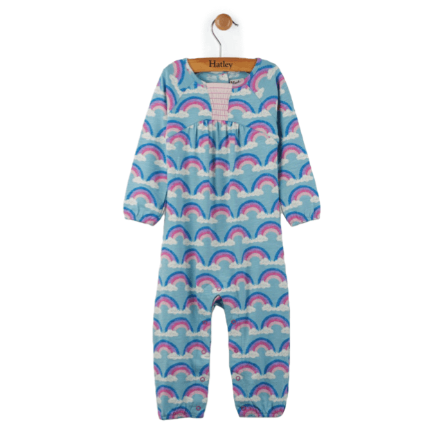 Hatley Rainbow Love Long Sleeve Romper Romper Hatley