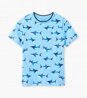 Hatley - Shark Frenzy Graphic Tee Short Sleeve Shirt Hatley