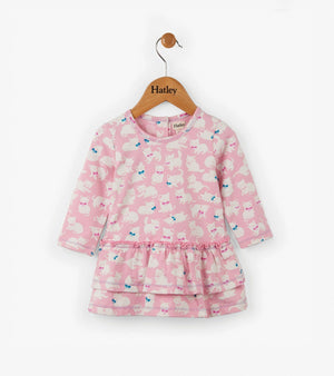 Hatley Sophisticated Kittens Mini Layered Dress Dress Hatley