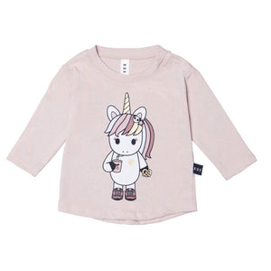 HB1363 Hux Baby - Unicorn Girl's Long Sleeve Top - Sugar Long Sleeve Shirts Hux Baby