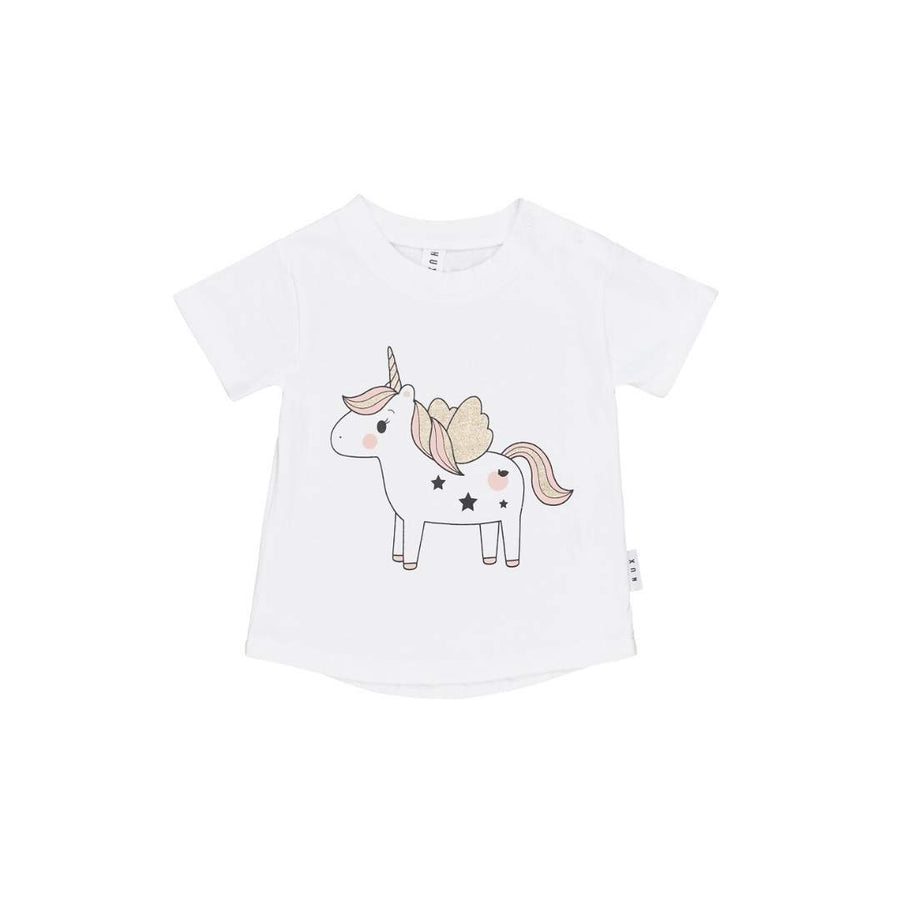 HB1494 Hux Baby - Unicorn T-Shirt Short Sleeve Shirts Hux Baby
