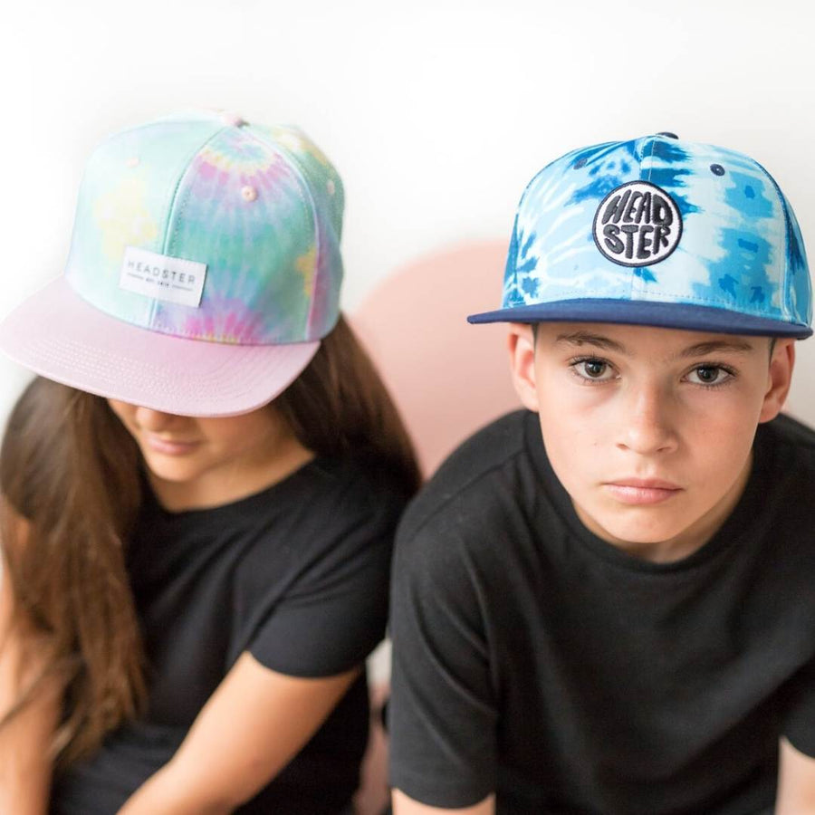 Headster - Tie Dye Blue Cap Hats Headster