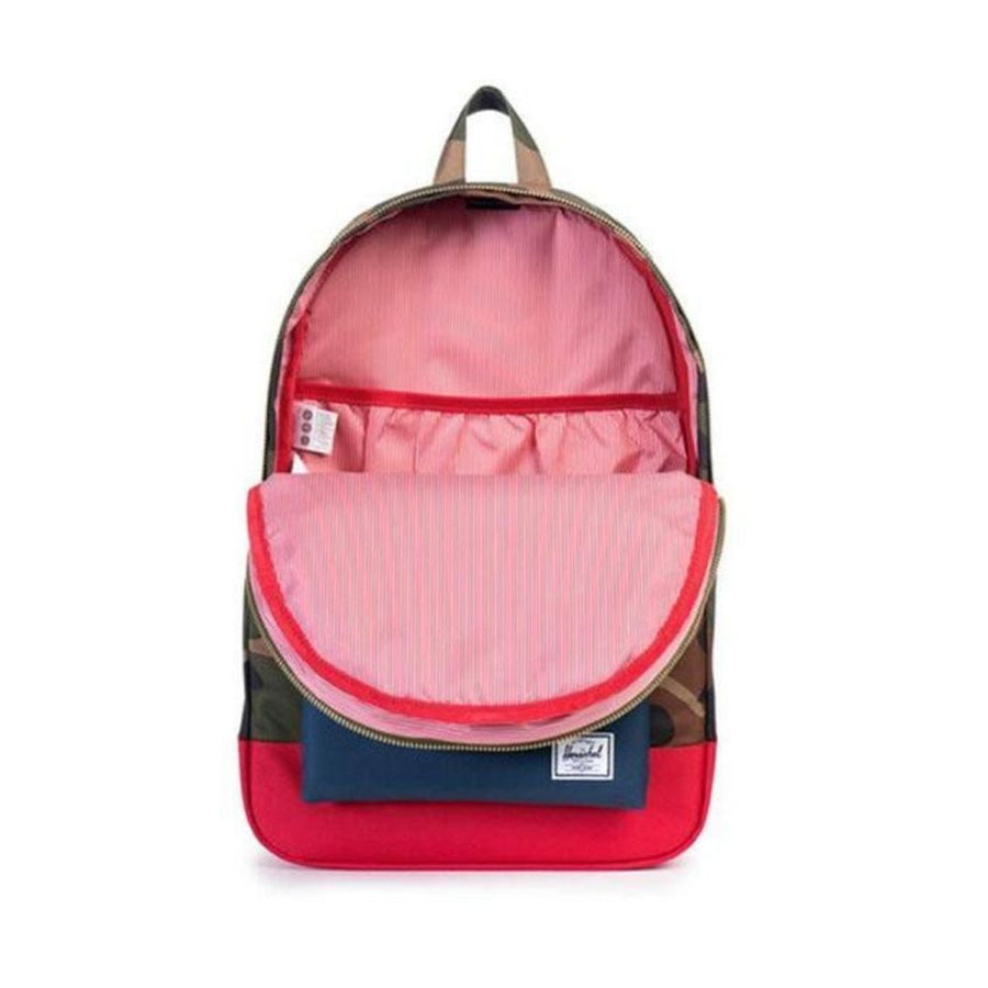 Herschel 20L Settlement Backpack - Woodland Camo / Navy / Red Backpack Herschel