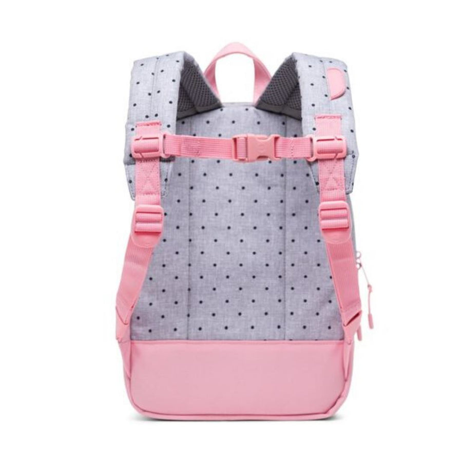 Herschel 9L Kids Backpack - Polka Dot Crosshatch/Peony/Ballad Blue Peony Polka Backpack Herschel