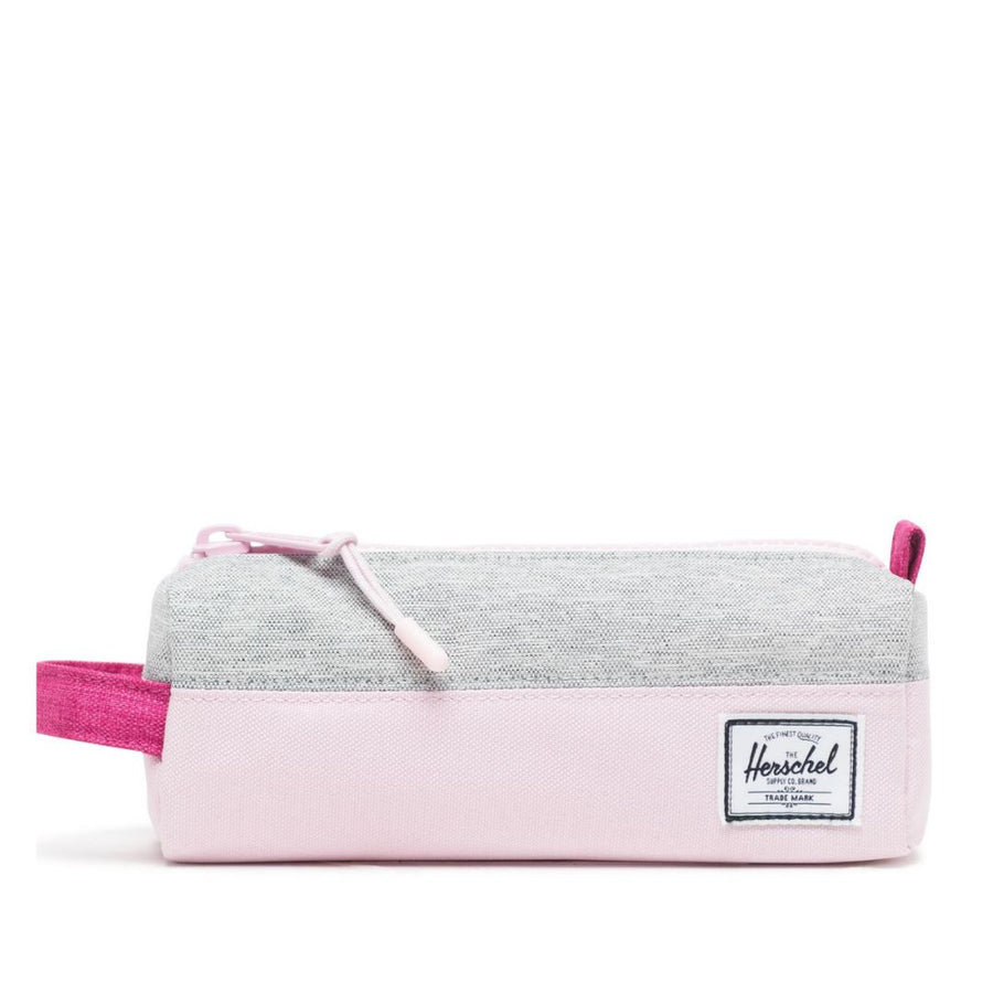 Herschel Settlement Case - Light Grey Crosshatch/Very Berry Crosshatch/Pink Lady Crosshatch Pencil Case Herschel
