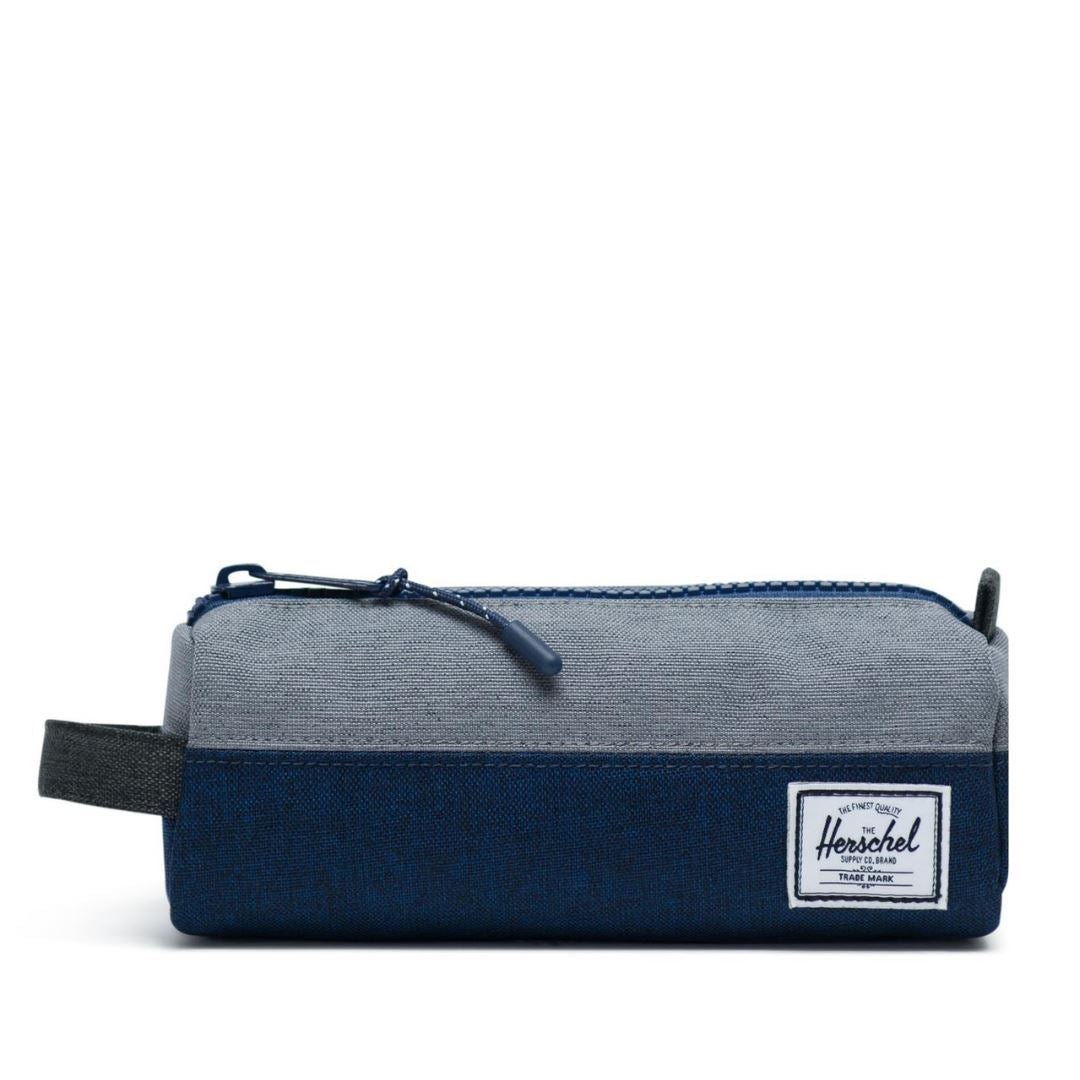 Herschel Settlement Case - Medieval Blue Crosshatch/Mid Grey Crosshatch/Black Crosshatch Pencil Case Herschel
