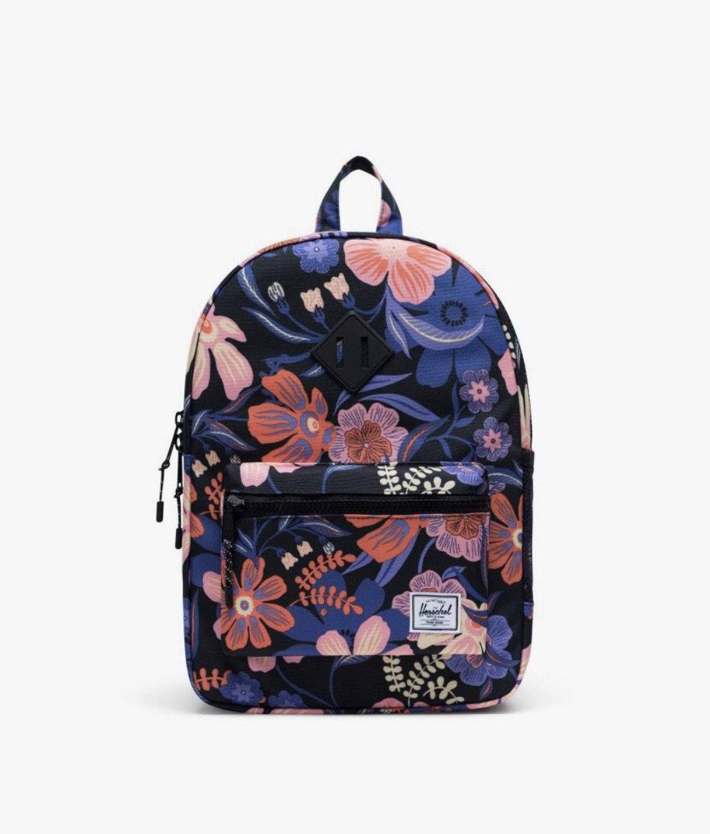 Herschel Youth 16L Backpack - Night Floral Black Backpack Herschel