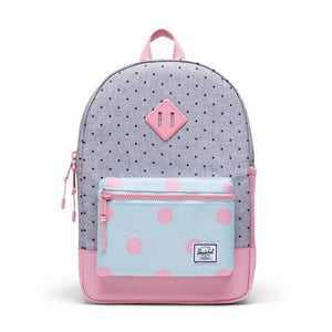 Herschel Youth 16L Backpack - Polka Dot Crosshatch/Peony/Ballad Blue Peony Polka Backpack Herschel