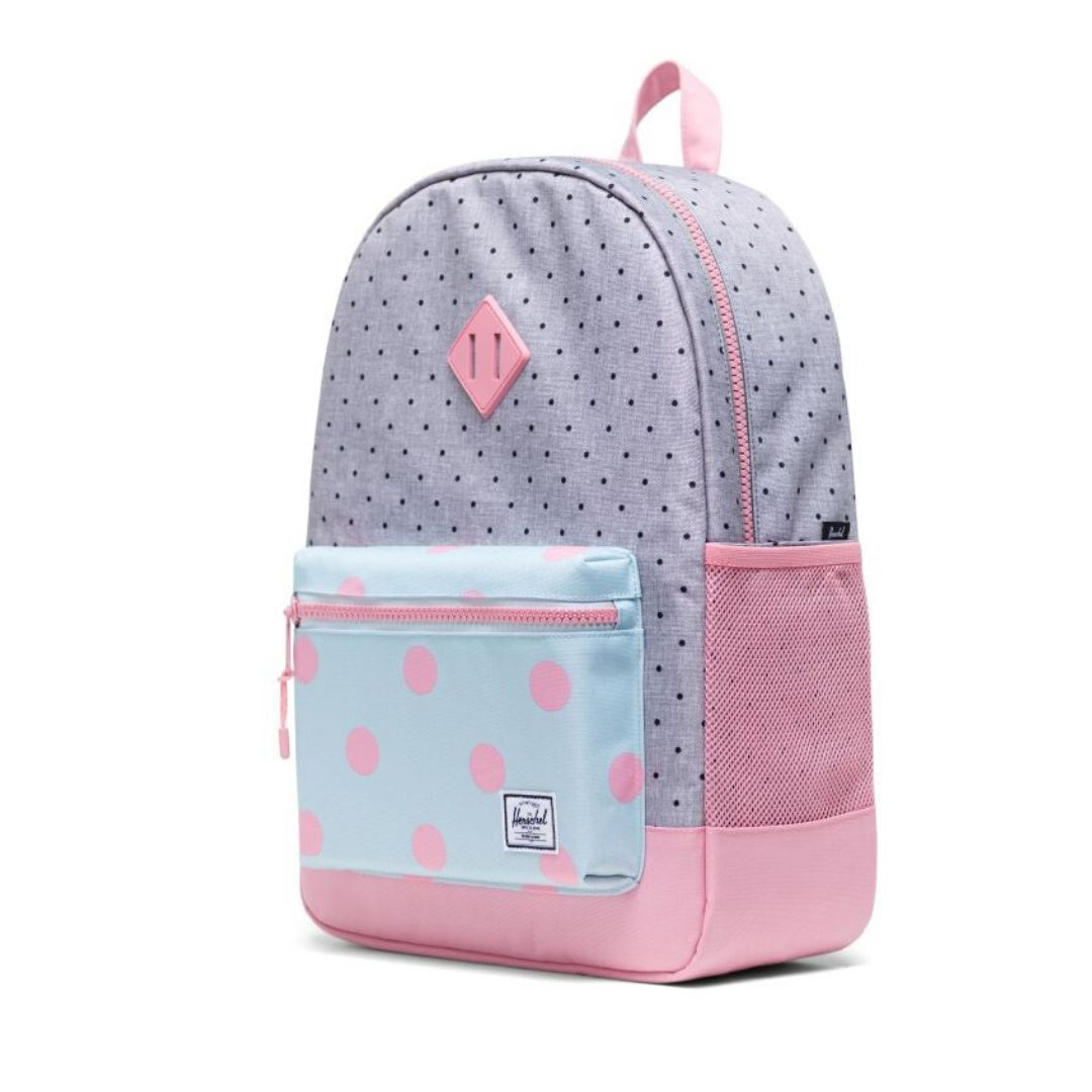 Herschel Youth XL 22L Backpack - Polka Dot Crosshatch/Peony/Ballad Blue Peony Polka Backpack Herschel