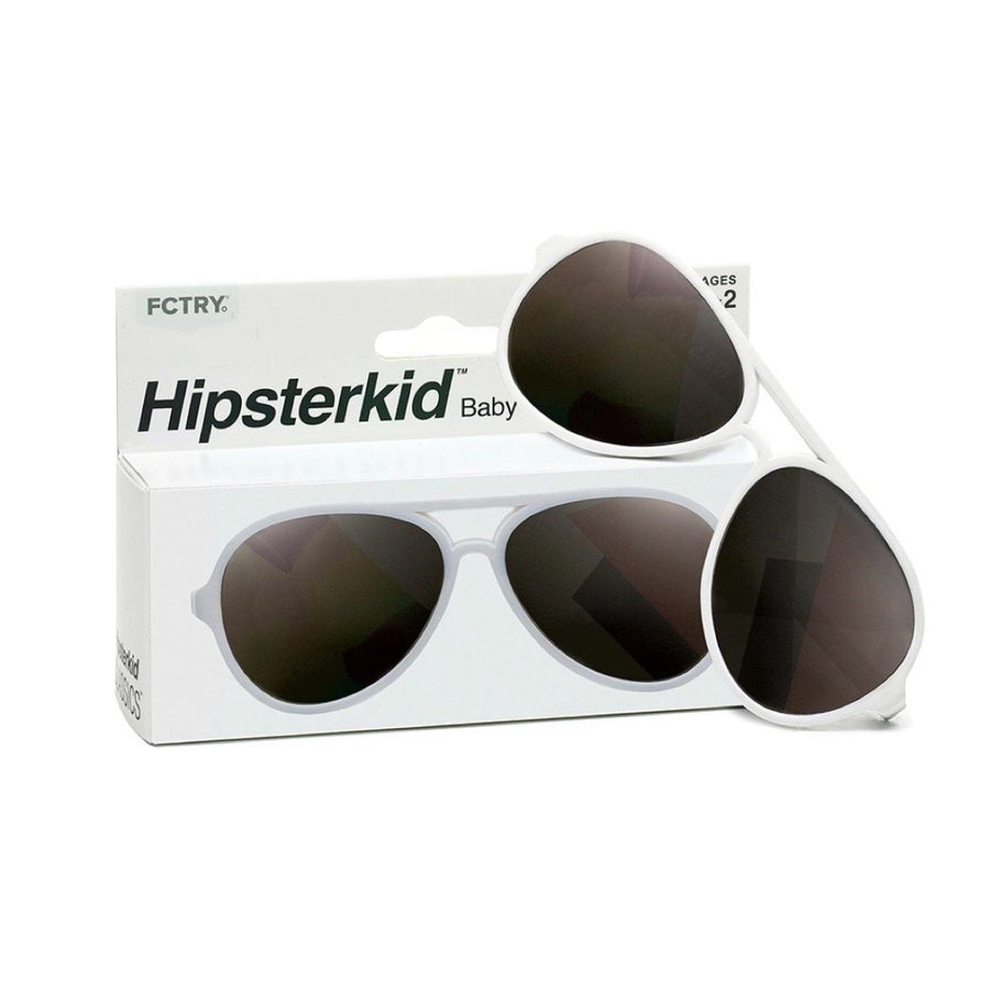 Hipsterkids - Baby/Toddler Classics Aviator Opticals - White Sunglasses Fctry 0-2 Years