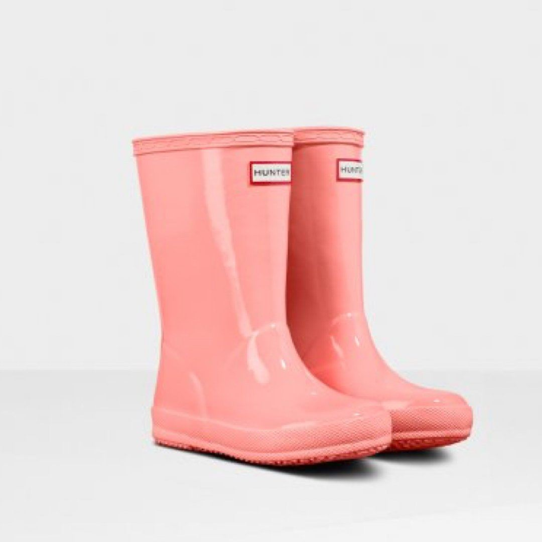 Hunter Original Kids First Classic Gloss Rain Boots - California Sea Shelly Rain Boots Hunter