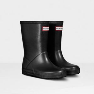 Hunter Original Kids First Classic Nebula Rain Boots: Black Rain Boots Hunter