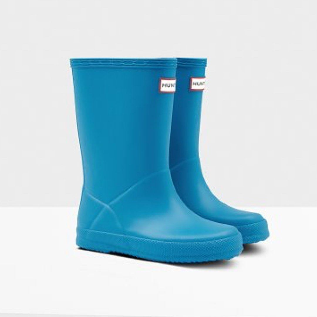 Hunter Original Kids First Classic Rain Boots - Blue Bottle Rain Boots Hunter