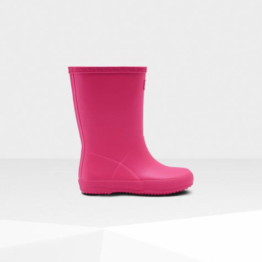 Hunter Original Kids First Classic Rain Boots - Bright Pink Rain Boots Hunter