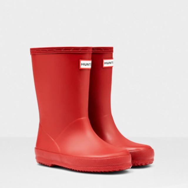 Hunter Original Kids First Classic Rain Boots - Military Red Rain Boots Hunter