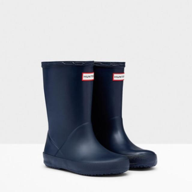 Hunter Original Kids First Classic Rain Boots - Navy Rain Boots Hunter