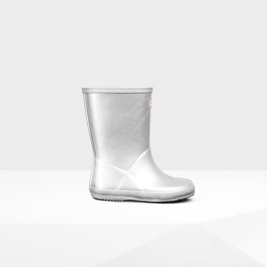 Hunter Original Kids First Classic Rain Boots- Silver Rain Boots Hunter