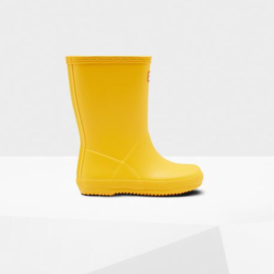 Hunter Original Kids First Classic Rain Boots - Yellow Rain Boots Hunter