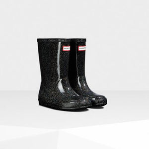 Hunter Original Kids First Classic Starcloud Rain Boots: Black Multi Rain Boots Hunter
