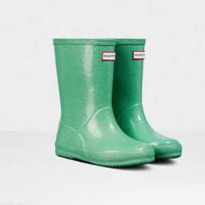 Hunter Original Kids First Classic Starcloud Rain Boots - Mint Green Rain Boots Hunter