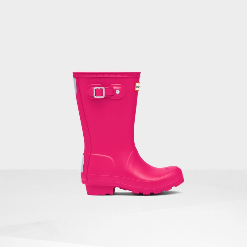 Hunter Original Kids Rain Boots: Bright Pink Rain Boots Hunter