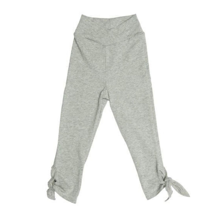 Joah Love - Heather Grey Hem Tie Capris Shorts Joah Love