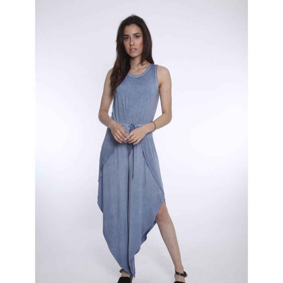 JR713 - River & Sky - Women's Sandbar Jumpsuit - Washed Indigo Jumpsuits / Rompers River & Sky