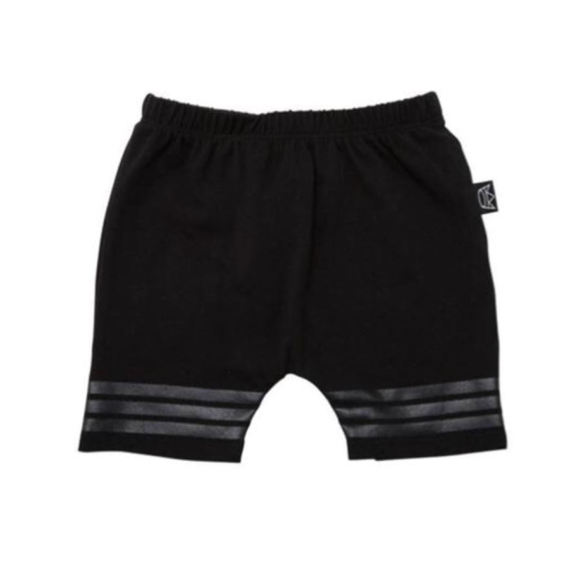 Kipp Kids - Black on Black Three Stripe Shorts (Newborn) Shorts Kipp Kids