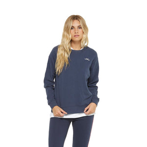 LAZYPANTS - Casey Women's Boyfriend Crew - Navy Sweatshirt LAZYPANTS