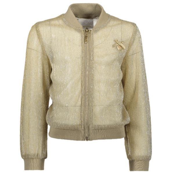 Le Chic- Girls Glitter Bomber Jacket - Gold Jacket Le Chic