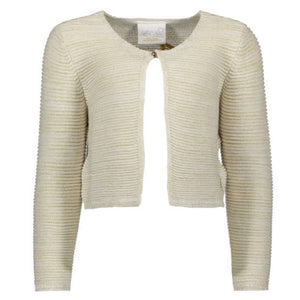 Le Chic- Girls Gold Glitter Knitted Cardigan Dress Le Chic