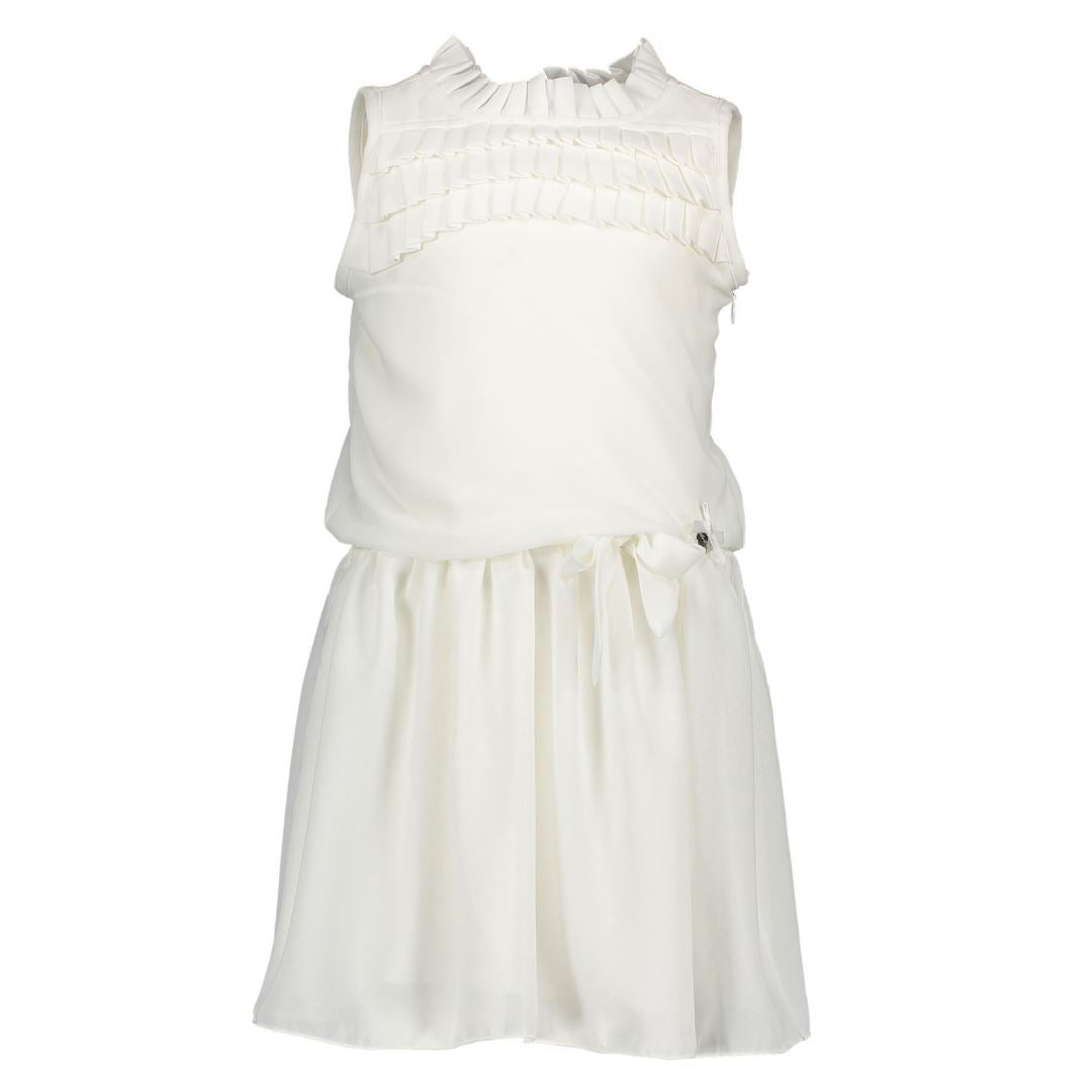 Le Chic- Girls Plissee Dress - Off White Dress Le Chic