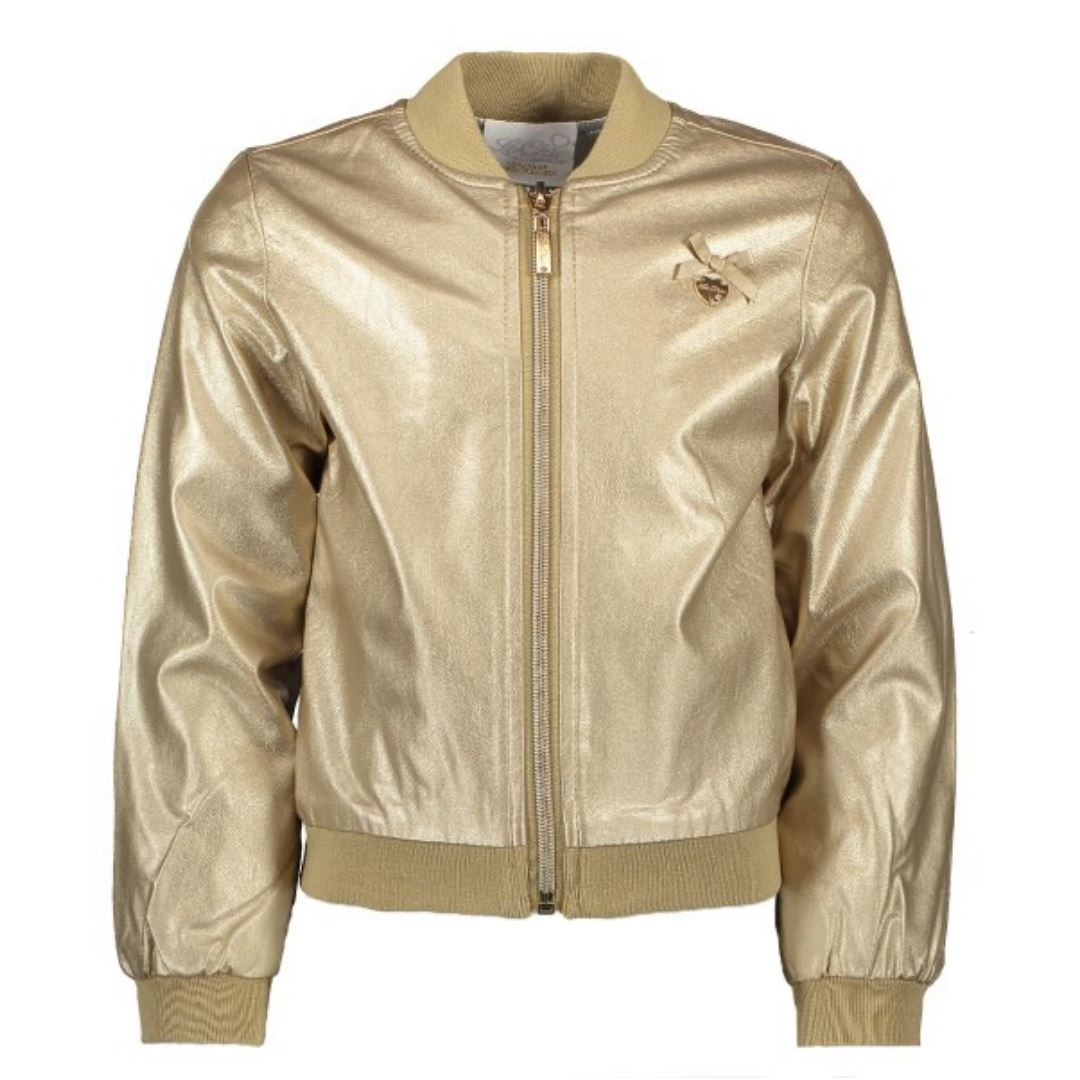 Le Chic- Girls Precious Metal Bomber Jacket Jacket Le Chic