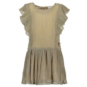 Le Chic- Gold Ruffle dress Dress Le Chic