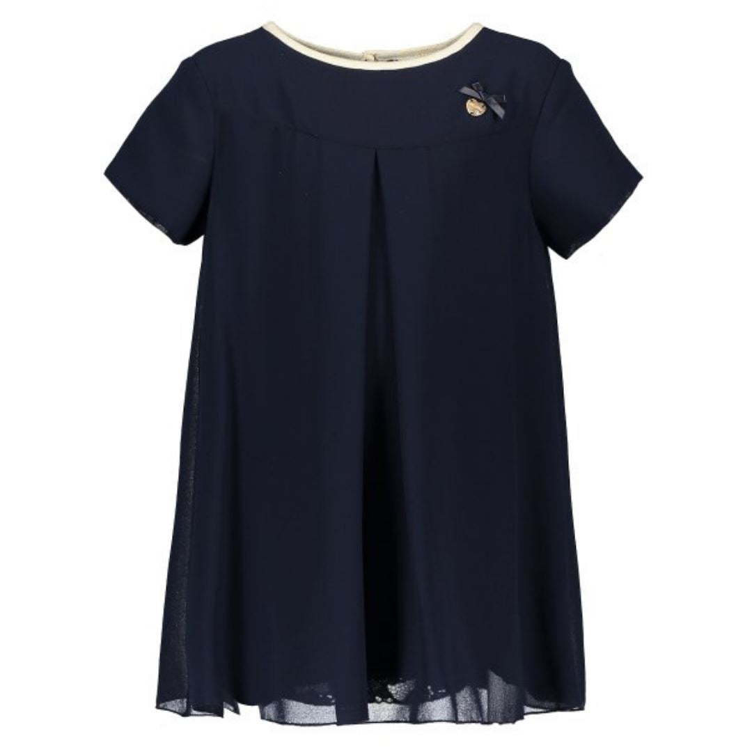 Le Chic- Navy Fancy Voile dress Dress Le Chic