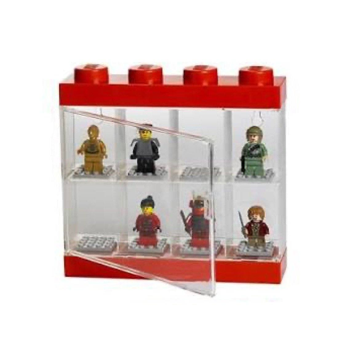 LEGO Minifigure Display Case 8 – Red Toys LEGO