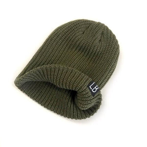 Little Bipsy - Thick Knit Beanie- Hunter Hats Little Bipsy