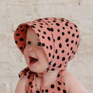 Little & Lively - Clay Dot Sun Bonnet Hats Little & Lively