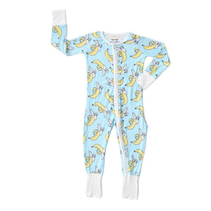 Little Sleepies - Banana Baby & Toddler Bamboo Zip Romper/Sleeper Pajamas Little Sleepies