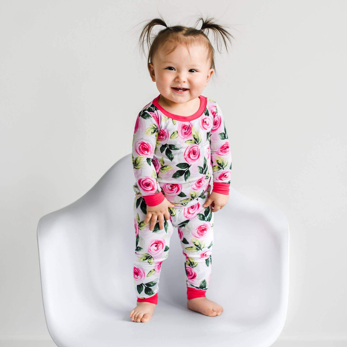 Little Sleepies - Roses bamboo two-piece pajama set Little Sleepies