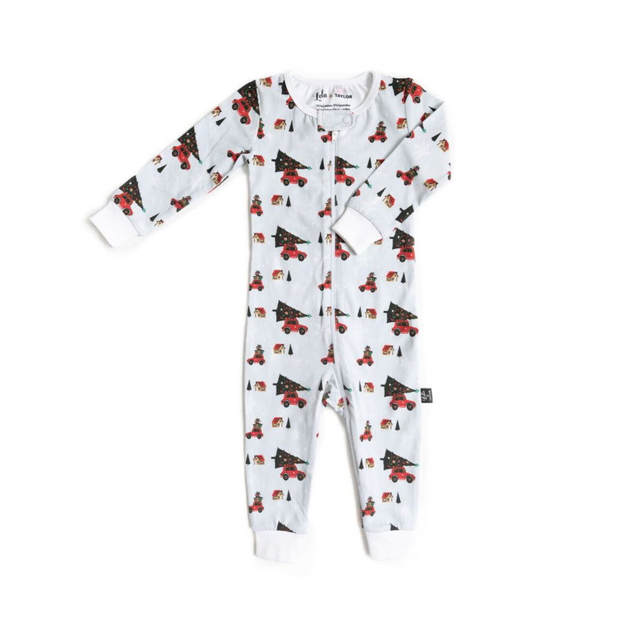 Lola & Taylor - Holiday Cheer Infant Romper Pajamas Lola & Taylor