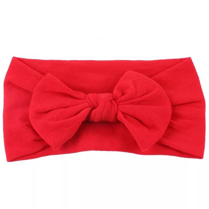 Lola & Taylor Ruby Red Top Knot Headband Headband Lola & Taylor