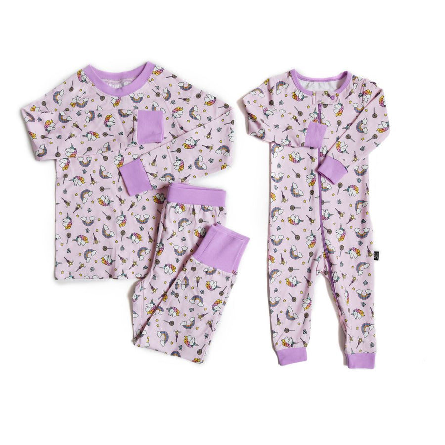 Lola & Taylor - Unicorn Dreams Infant Romper Pajamas Lola & Taylor 0-3 Months