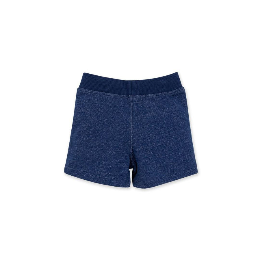 LY26477 Burt's Bees Baby - Two-Tone French Terry Organic Baby Short - Deep Ocean Shorts Burt's Bees Baby
