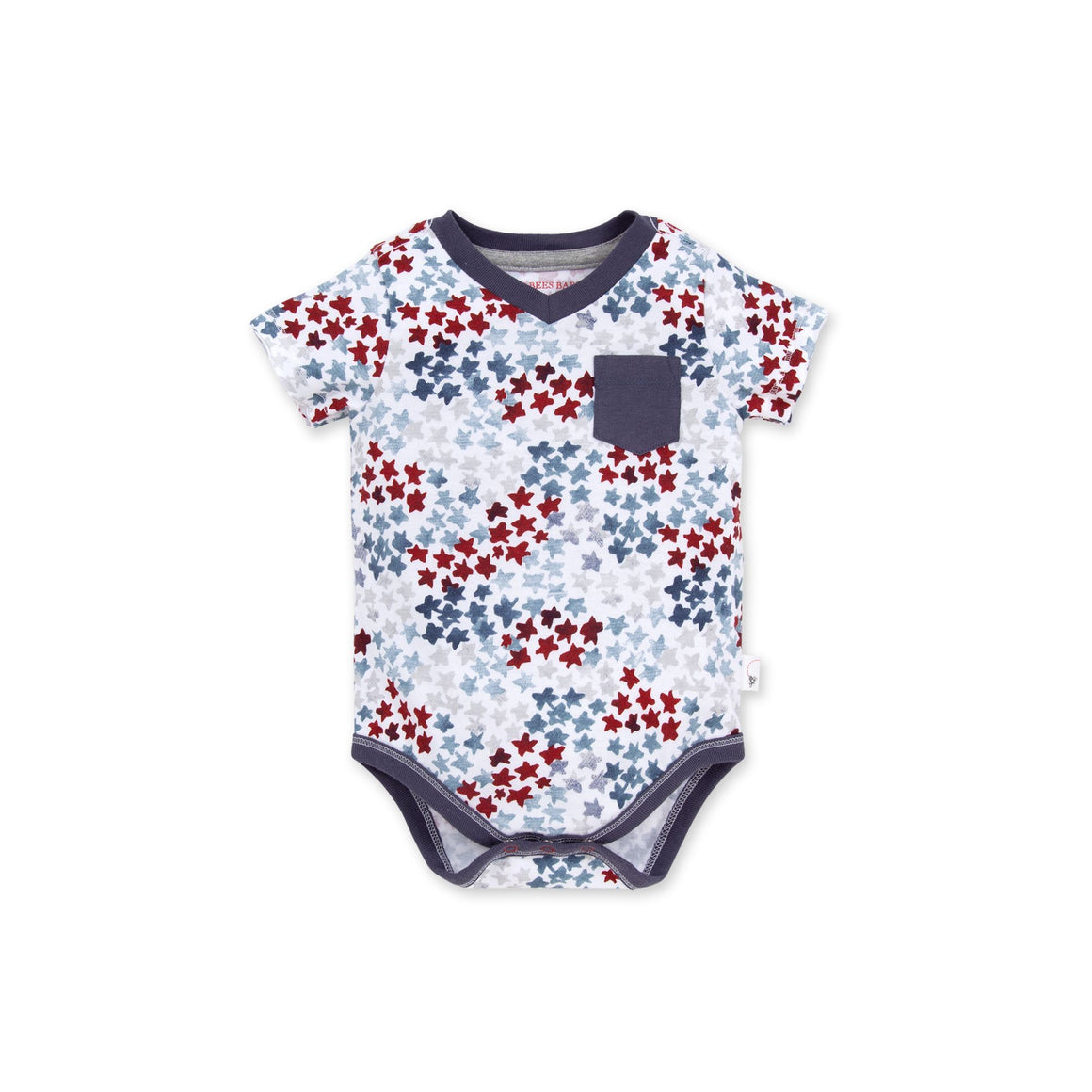 LY26916 -Burt's Bee Baby Starry Night Sky Organic Bodysuit - Blue Smoke Onesie Burt's Bees Baby