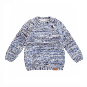 Miles Baby - Light Heather Grey Knit Sweater Sweater Miles Baby