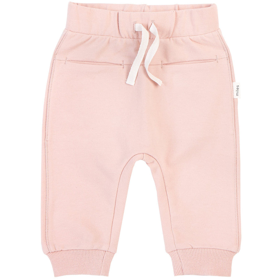 Miles Basic Light Pink Jogger Pants Miles Baby