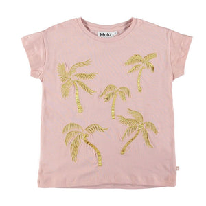 Molo - Gold Palms Robine Girls T-Shirt Short Sleeve Shirt Molo
