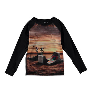 Molo - Neptune Long Sleeve Sunset Skate Rash Guard Swimwear Molo